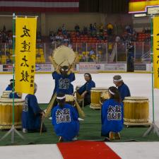 TOMODACHI DAIKO, INC. PERFORMING AT THE SULLIVAN ARENA AT ANCHORAGE ACES GAMES SATURDAY, JANUARY 7, 2012 IN ANCHORAGE, ALASKA.
